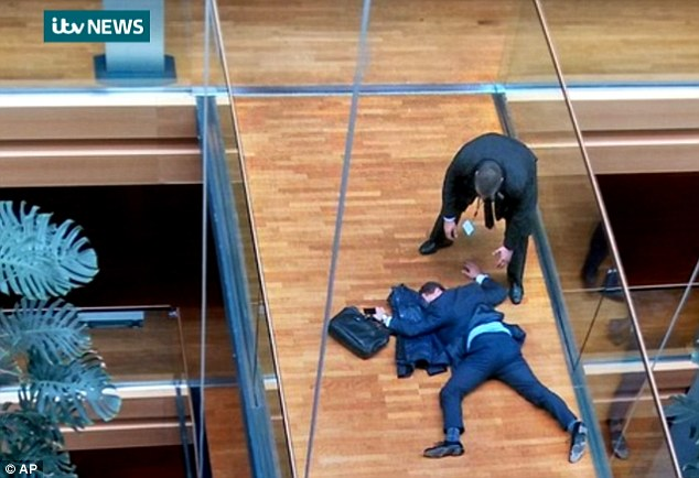 Dramatic: Hookem denies throwing a punch at Woolfe last week during a confrontation which led to Woolfe collapsing and being taken to hospital