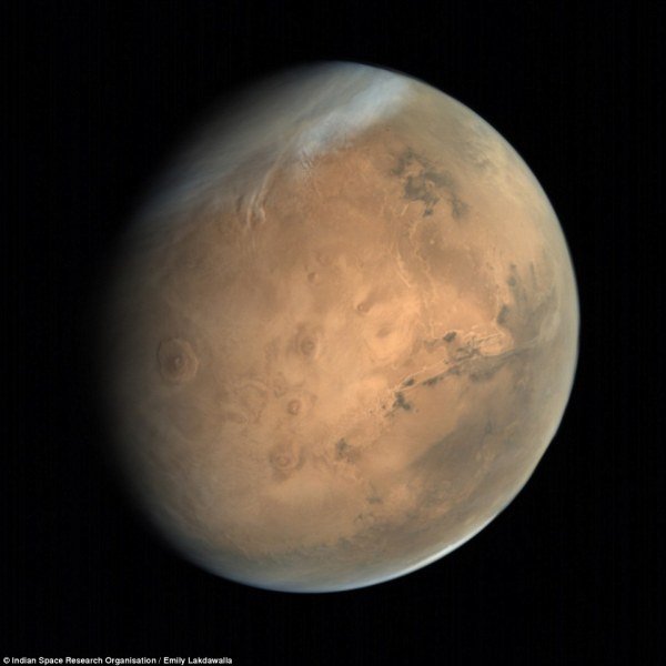 Stunning images of Mars beamed back from Indian space ...