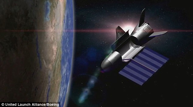 The US Air Force's mystery military space plane has now been in orbit for 600 days. The X-37B space plane, an experimental program run by the Air Force, launched atop a United Launch Alliance Atlas V rocket on May 20, 2015. Pictured is an artist's impression
