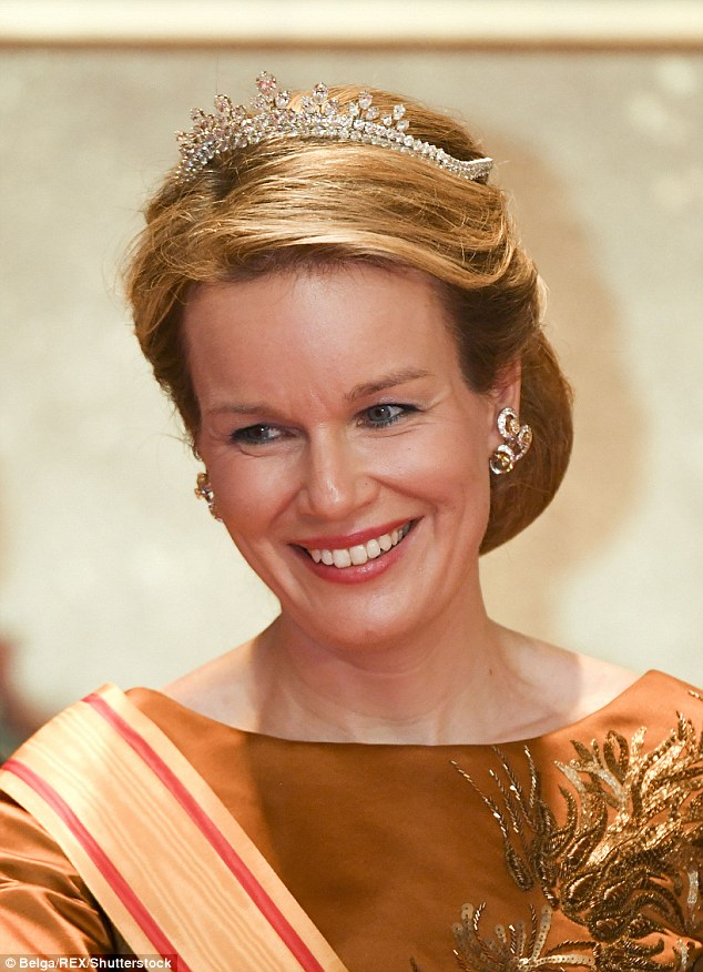Queen Mathilde Of Belgium Dazzles In A Tiara Packed With
