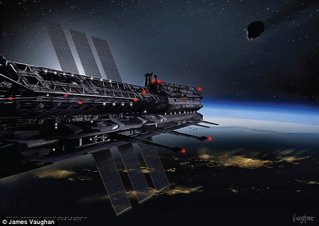 It might seem like an idea taken straight out of science fiction, but a nation of people living in space could soon become a reality. The ambitious plans, first announced last year, were hatched by an international group of scientists. Artist's impression pictured