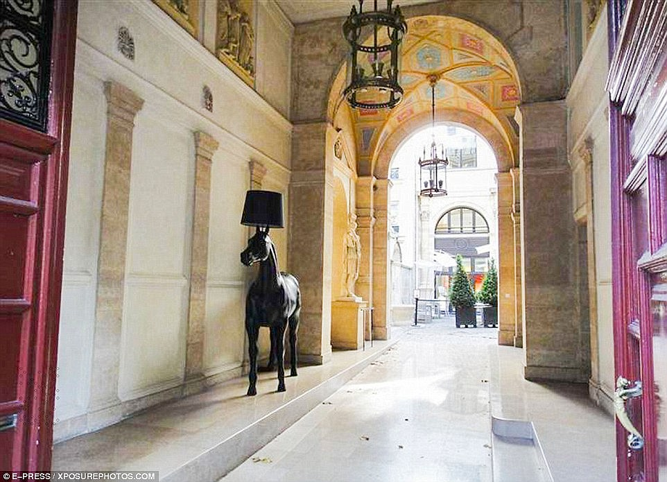 Danger: Abdulrahman added: 'One day, someone might be killed. That is more important than a robbery of rocks and metal.' Pictured: Inside Kim's Paris hotel