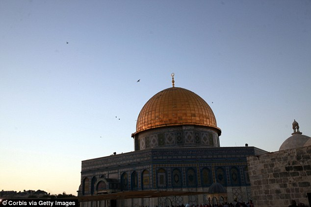 The Dome of the Rock (above) is a shrine that sits atop the Temple Mount, which is holy to both Jews and Muslims