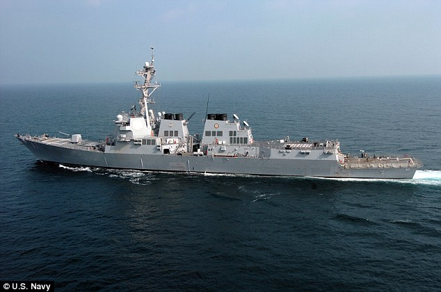 The USS Mason has so far taken 'countermeasures' and not been struck by missiles, but the Pentagon fired upon radar sites