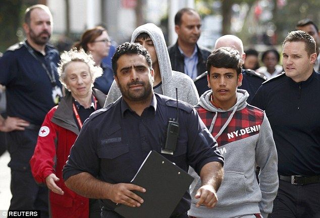 The Government has faced criticism over efforts to identify and transfer youngsters. Pictured, some of the unaccompanied children  arriving at the Home Office centre in south London