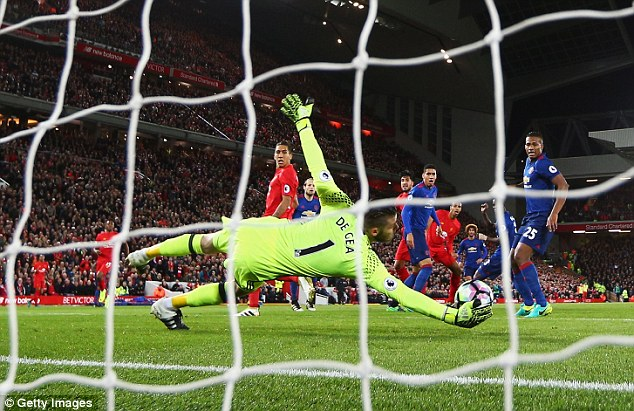 Image result for Liverpool 0-0 Man United: David De Gea's saves preserve draw for Manchester United at Liverpool
