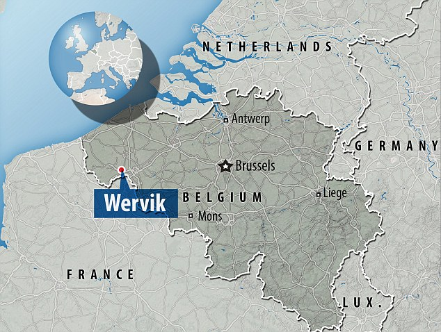 The accident happened near Wervik in Belgium near the border with France