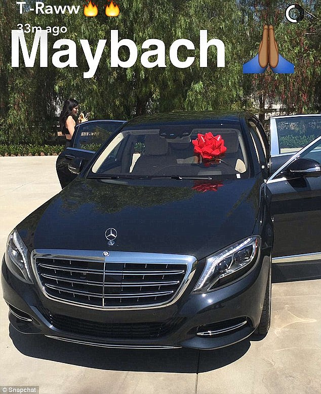 Splashing out! Tygarecently gifted a $200,000 brand new Mercedes-Maybach for Kylie in August for her birthday