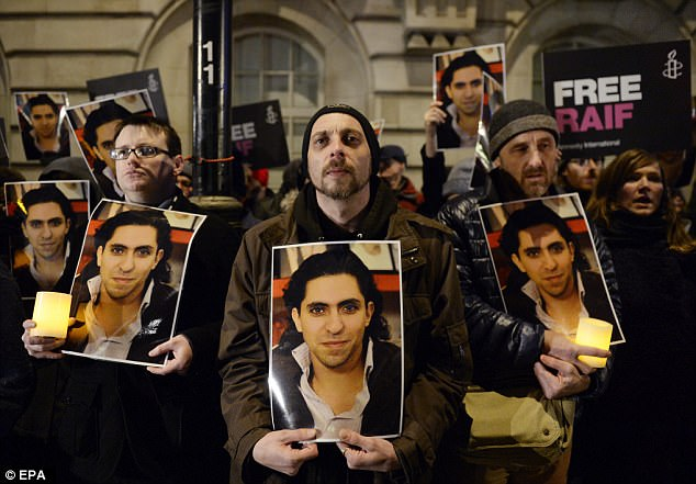 Fight: The Free Raif campaign has received global support and the Raif Badawi Foundation was set up to raise awareness of his punishment