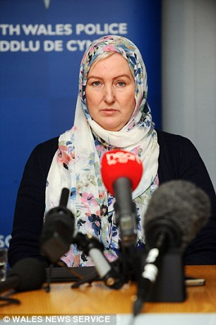 Andrea Aburas, the mother of Miss Aburas, is pictured at a press conference last year after a global manhunt was launched for Almahr
