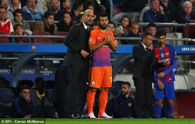 Image result for I don't want Aguero to be like Suarez – Guardiola