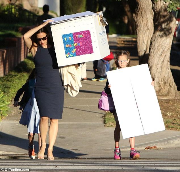 Image result for Jennifer Garner bringing project to school