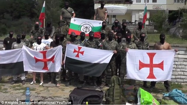 Armed and masked members of the far right Bulgarian group who have been patrolling the border with Turkey
