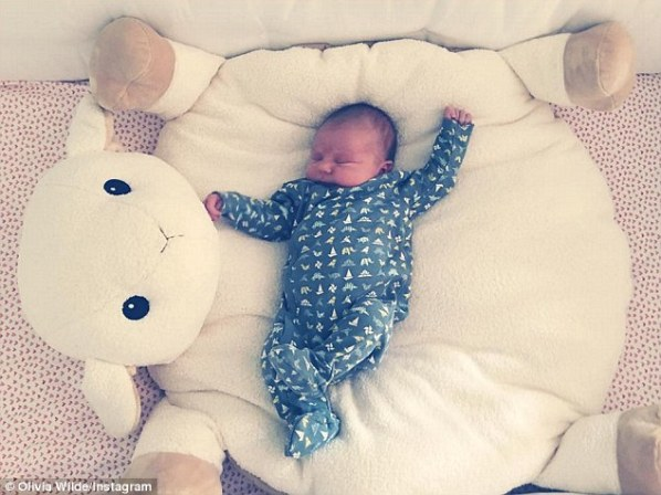 'There goes the neighborhood': The actress had introduced her new daughter to her Instagram followers five days after her October 11th birth