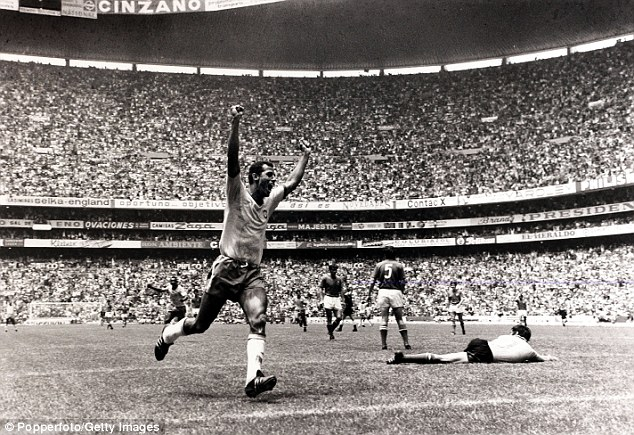 Alberto celebrates a goal which is now remembered as one of the greatest in history