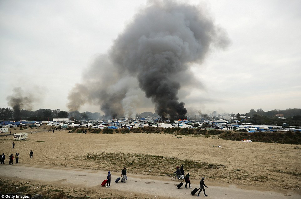British anarchists have been blamed for a massive fire that destroyed a large part of 'Jungle' in Calais and injured several migrants