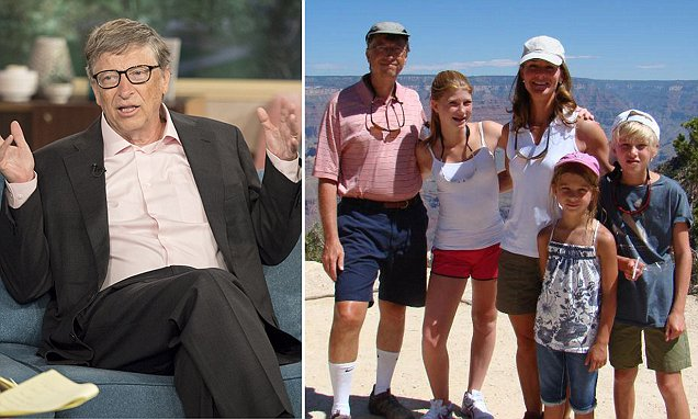 World's richest man Bill Gates says his three children understand why he won't be leaving them his £70billion fortune when he dies