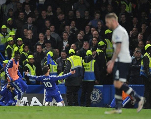Image result for Hazard celebration vs tottenham