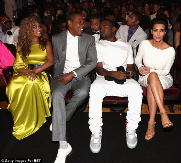 Family feud: A week after it emerged Jay Z 'cannot stand' Kanye West, it transpires their wives don't see eye to eye either