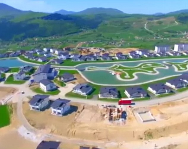 The idyllic community has been built by Middle East investors around an artificial lake
