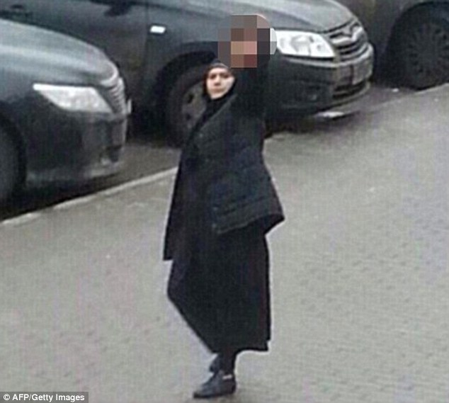 Gruesome footage showed Bobokulova (pictured) parading the little girl's severed head through the streets of Moscow in February