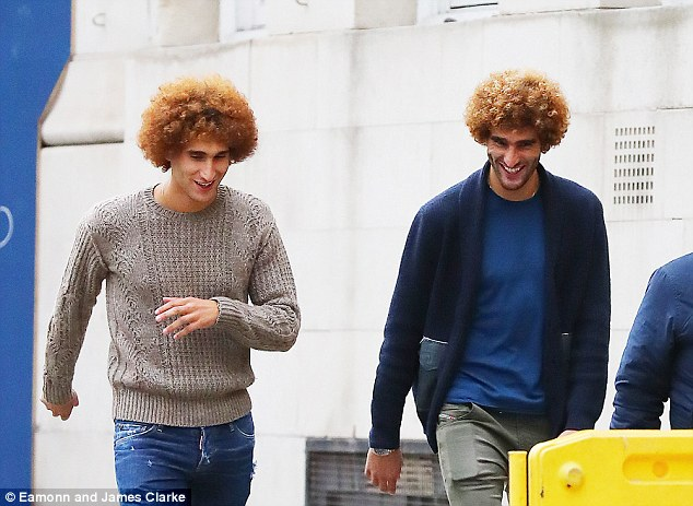 Fellaini did not seem to care about not featuring during United's win over Manchester City