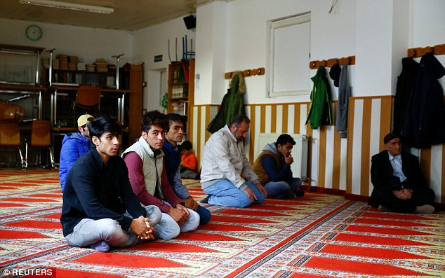 Many Syrian refugees would like to go to Turkish mosques  (pictured) because they are far more moderate than the Arabic speaking mosques in Germany. However, there is a language barrier that stops them attending