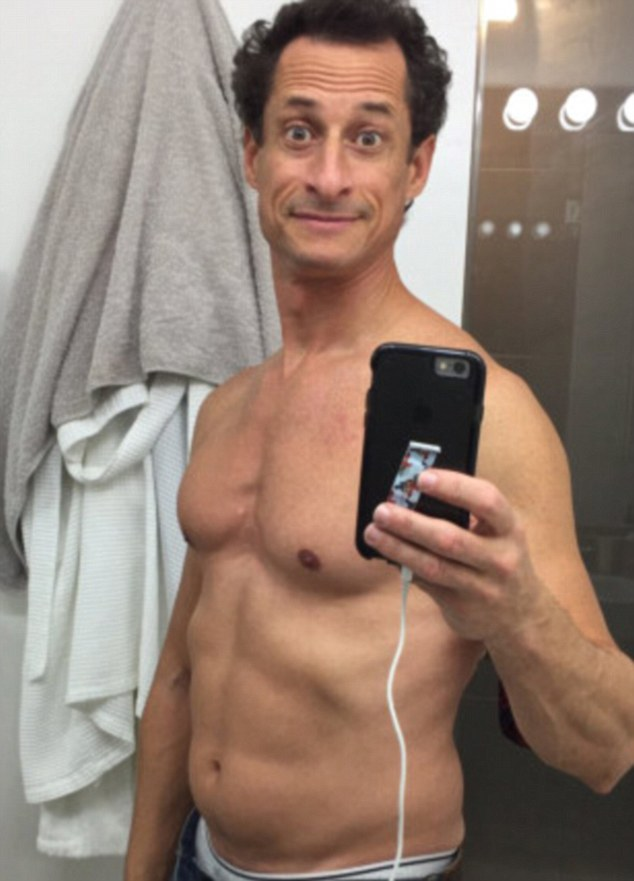 Abedin's husband Anthony Weiner, pictured, was investigated by the FBI over allegations that he had sexted a 15-year-old girl. It is understood that the FBI has found emails on Weiner's computer which relate to Abedin's work with Clinton at the State Department