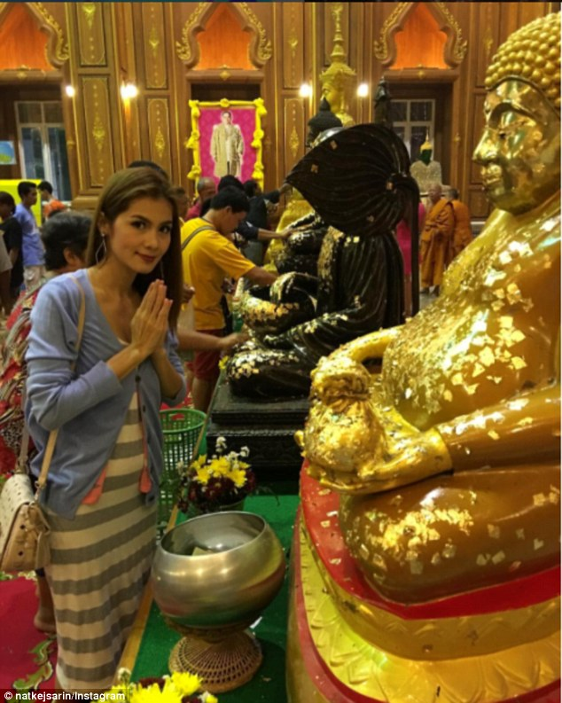 'Nong Nat' (pictured) tells her Instagram followers about Buddhism