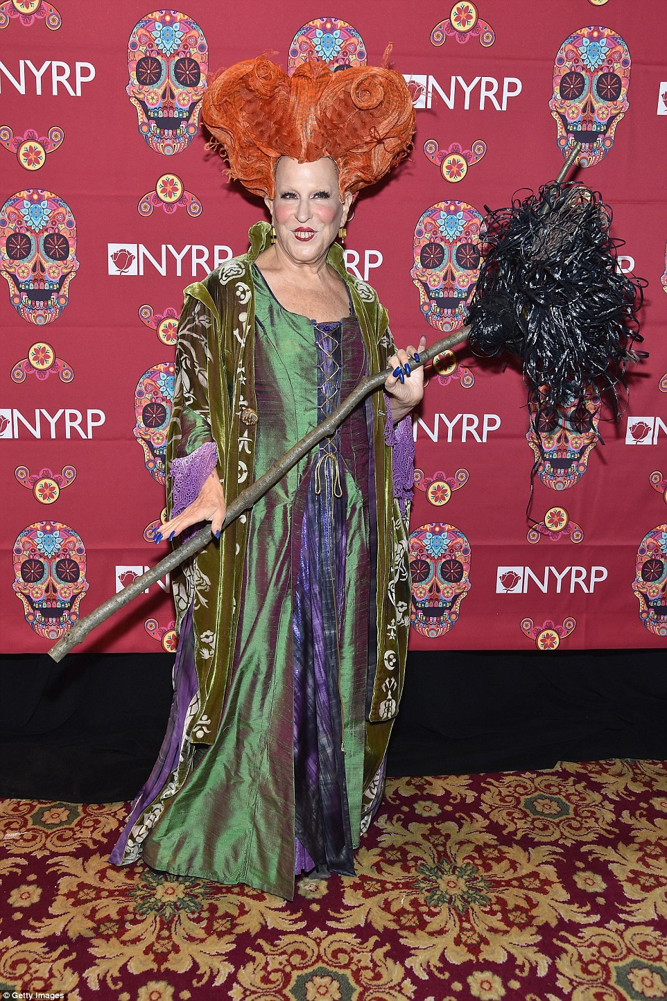 Bette Midler made every 90s child's dream come true when she dressed up as her iconic Hocus Pocus character Winifred Sanderson for her New York Halloween bash on Friday