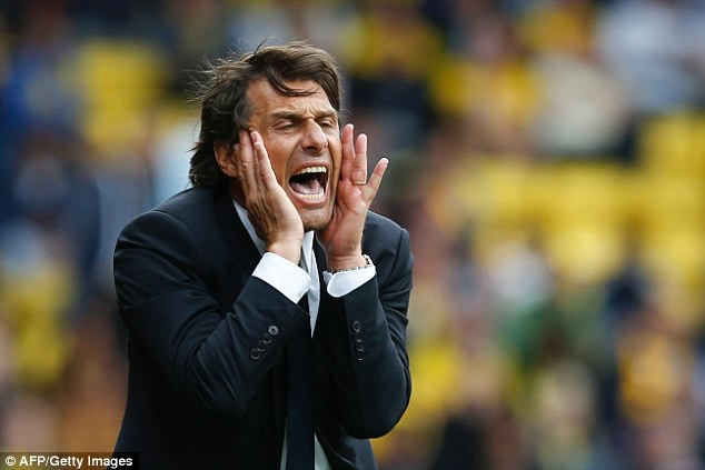 Antonio Conte has yelled himself hoarse during Chelsea's recent revival in the Premier League