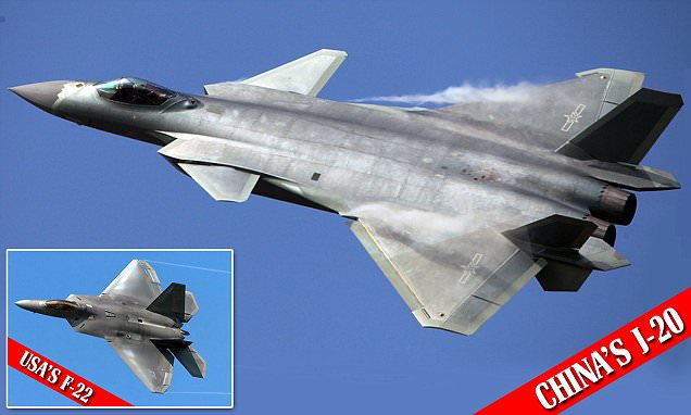 Chinese J 20 Stealth Jet Based On US Military Plans