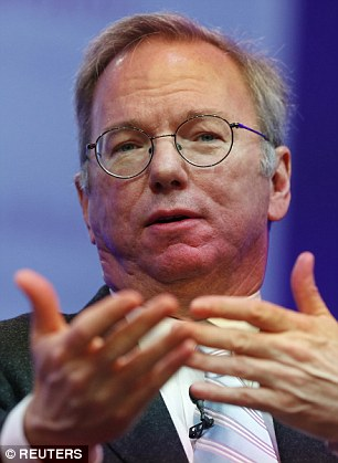 Google's Eric Schmidt (pictured) gave Hillary Clinton's team a campaign plan a full year before she announced her intentions to run for president