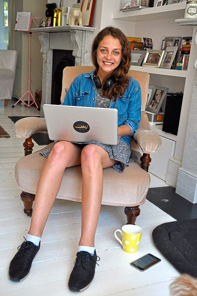 25-year-old Aurelija Stankunaite, pictured above, works for a digital marketing agency. She finds coffee shops too noisy and her home too claustrophobic