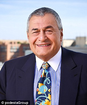 Lobbyist: Tony Podesta is the brother of Clintonworld 'dean' John Podesta but is being investigated by the FBI over taking a contract from a firm which may have been a front for corrupt cash from Ukraine's deposed president Viktor Yanukovych - an ally of Vladimir Putin