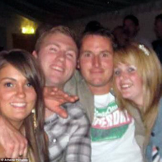 Tragic: The body of fisherman Daniel Willington, 32, (second right) has never been found