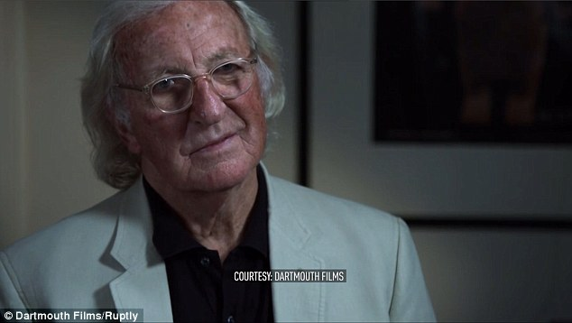 He told veteran journalist John Pilger, pictured, the entire US establishment is backing Clinton