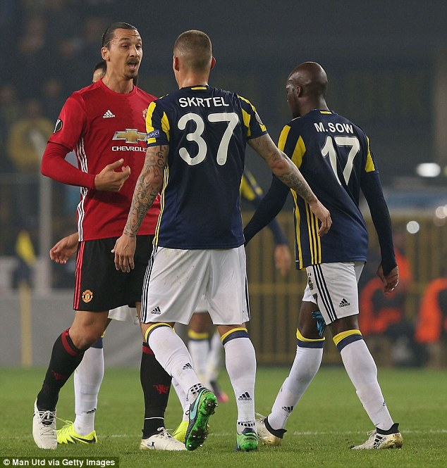 Ibrahimovic had a bad night as he failed to net for the sixth straight Manchester United game