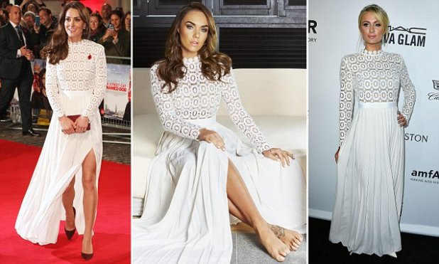 Kate Middleton, Paris Hilton and Tamara Ecclestone are all spotted wearing same white gown