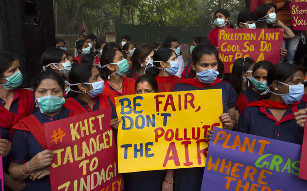 Image result for air pollution.. the massive killer protest