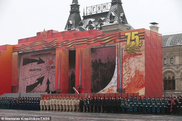 Yesterday's military parade in Red Square commemorated a pivotal moment in World War Two when German forces were turned back from the gates of Moscow
