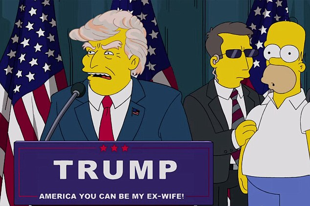 It's beyond satire': The Simpsons predicted Donald would become US President 16 years ago with an episode called Bart To The Future