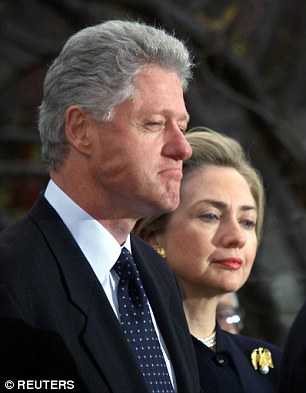 Hillary was accused by a New York Times columnist of being a 'congenital liar' (pictured together in 1998)