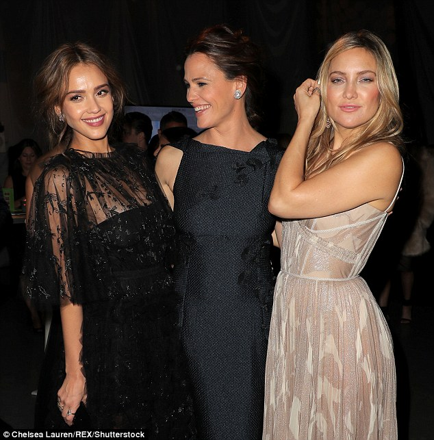 Stunners: The stars seemed to have a good time at the event for the charity organisation