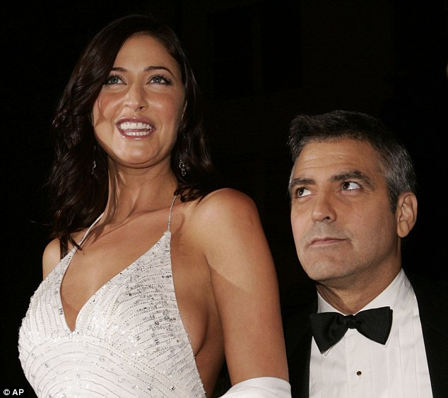 Famously dated: Lisa and Hollywood actor George Clooney (here together in 2004) famously dated