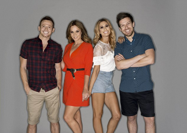 New kids on the block: Vicky scooped the job on the show after her victory last December, as the rebooted programme saw the departure of Laura Whitmore who was replaced with the Geordie Shore star, Joe Swash, Stacey Solomon and comedian Chris Ramsey