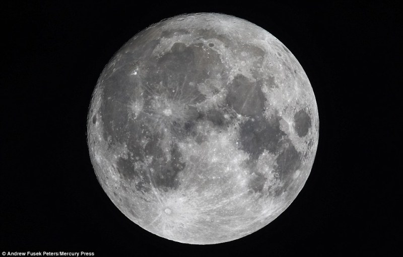 Today the moon will be the closest to Earth it's been since January 1948. During the event, it will appear up to 14 per cent bigger and 30 per cent brighter than an average full moon. The supermoon as seen from Northen Shropshire last night