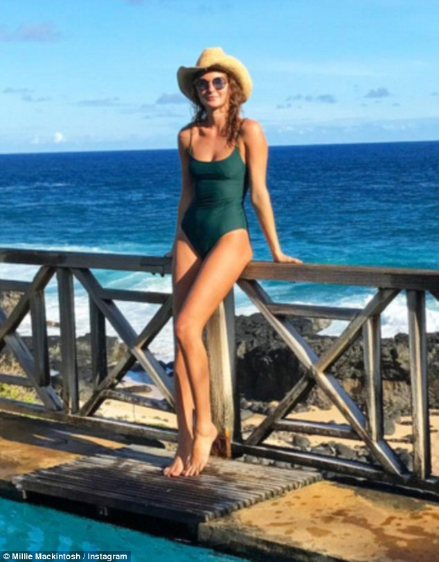 Snap happy:Millie Mackintosh didn't disappoint her fans as she shared another sizzling snap from Mauritius with her 1.3 million Instagram followers on Wednesday
