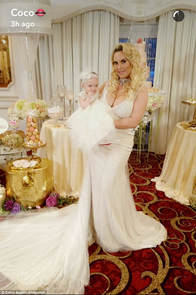 Coco Austin Poses With Baby Chanel For Her First Birthday