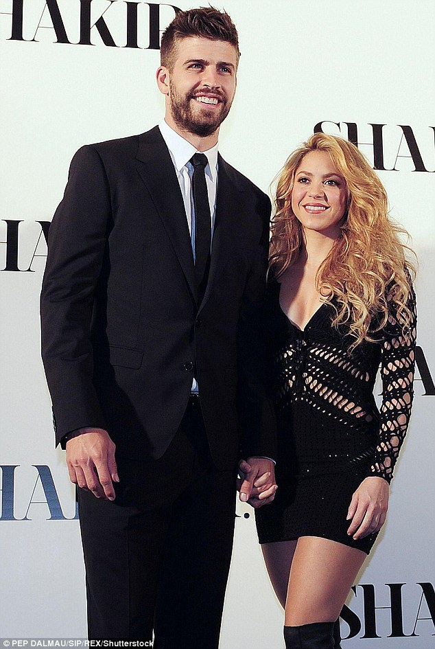 Devoted parents: Shakira and Spanish football star Gerard Piqué met in 2010 when the Barcelona FC player appeared in the music video for her song Waka Waka (This Time for Africa), the official song of the 2010 FIFA World Cup. They're pictured in March 2014